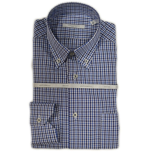 Camicia button down  a quadri  blu