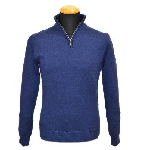 Maglione da uomo  in lana Merinos mezza zip