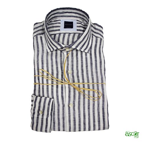 Blue striped linen shirt
