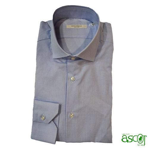 Camicia celeste di cotone