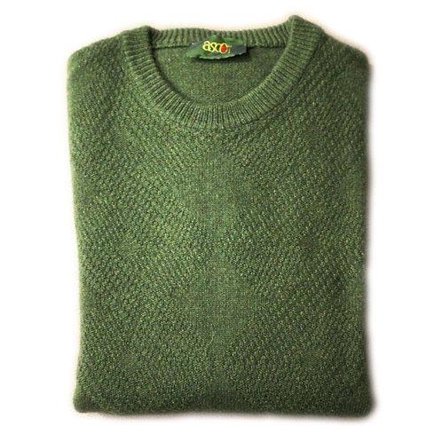 Maglione uomo in lana - a rombi giro collo