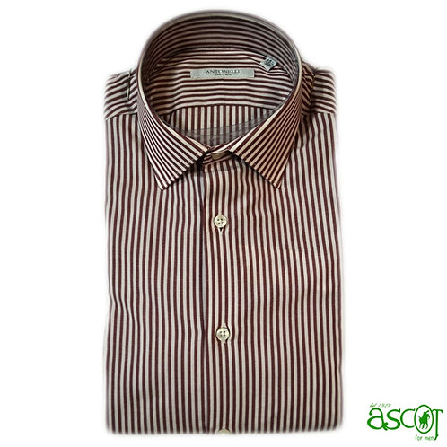 White shirt with red stripes