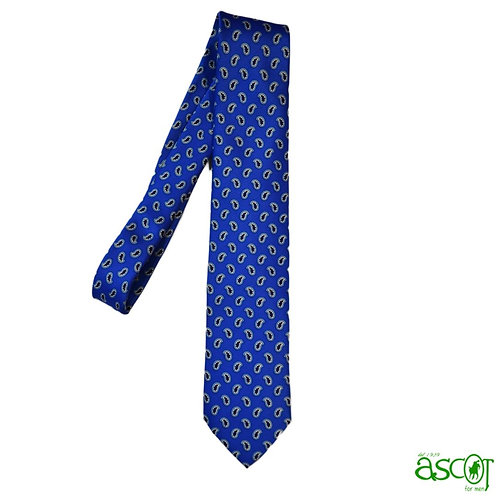 Silk tie - blue with drops