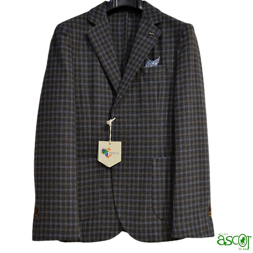 Blazer checkered of the wool