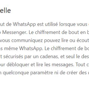 WhatsApp et les données