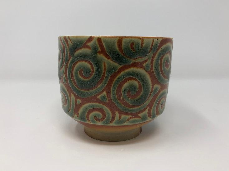 Green Spiral Teabowl 1