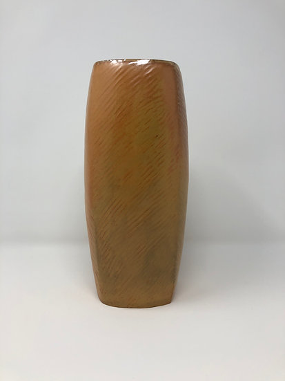 Yellow Textured Square Vase 1 - tall