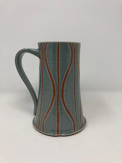 Ice Blue Modified Stripe Mug 1