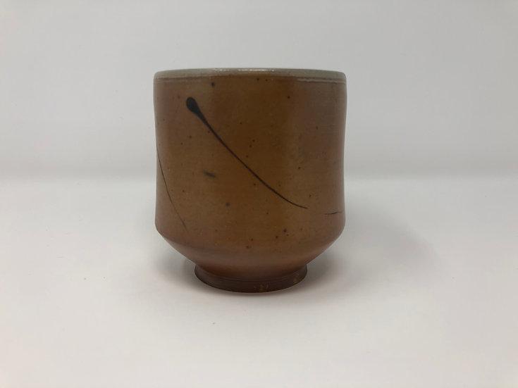 Salt Fired Black Line Teabowl 1