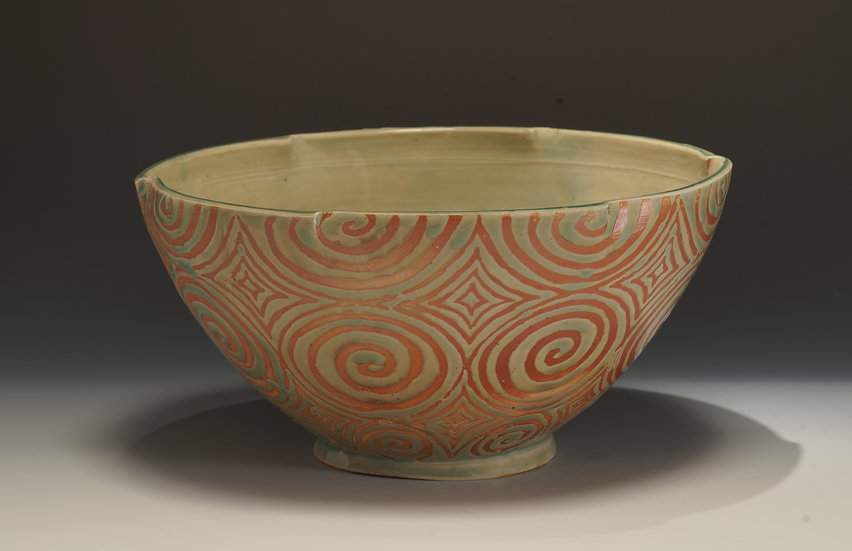 Large Celtic Spiral Bowl