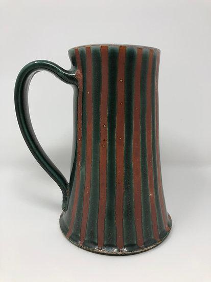 Green Stripe Beer Mug 3