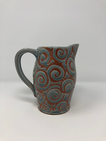 Ice Blue Spiral Pitcher 1 - small