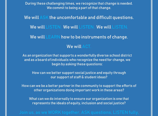 Westerville Education Foundation Issues Commitment to Social Justice