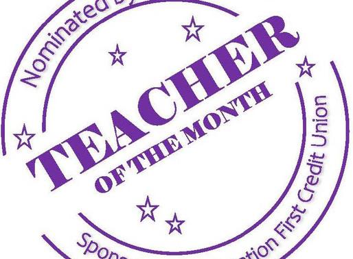 Congratulations October Teachers of the Month!
