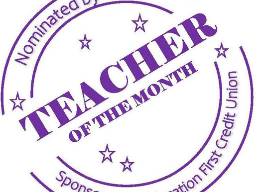 Congratulations October Teachers of the Month!