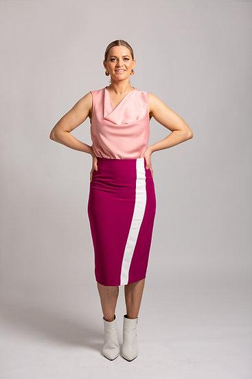 Stripe Contrast Skirt