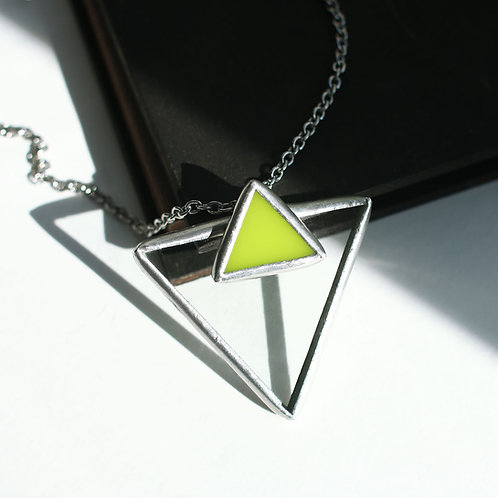 """Кулон """"Треугольник с треугольником"""""""