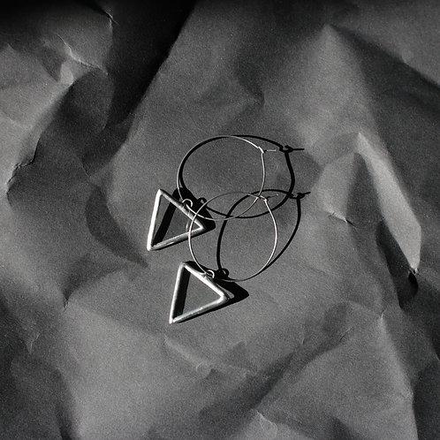 Серьги прозрачные треугольники