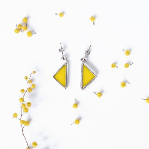 """Серьги """"Маленькие желтые треугольники"""""""