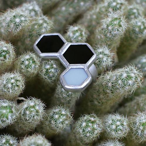 Кольцо орнамент из шестигранников