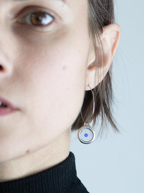 Серьги-кольца с кружочком камифубуки
