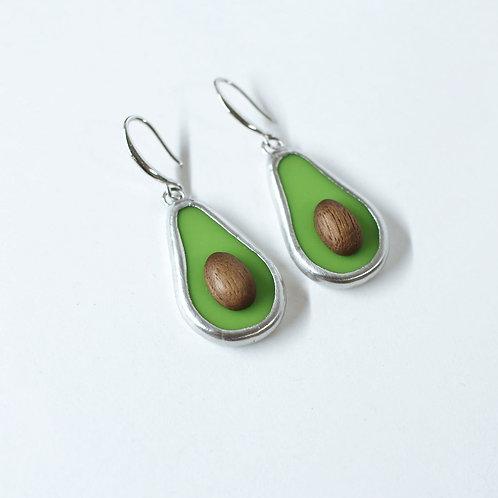 "Серьги ""авокадо"""