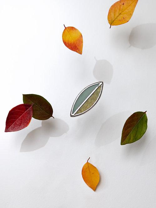 """Брошь """"Осенний лист"""" №3"""