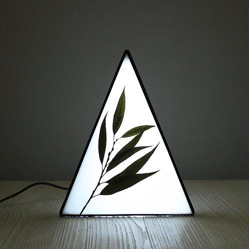 Настольный светильник с веточкой ивы