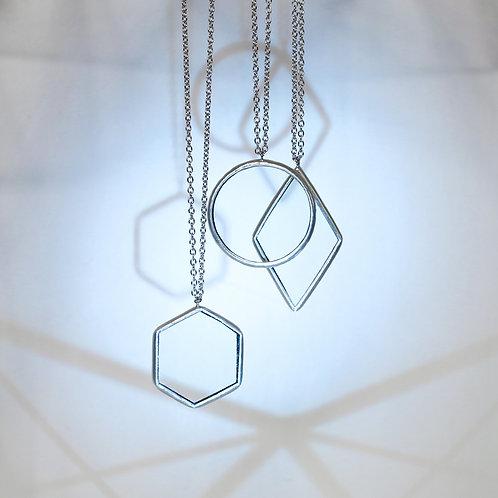 Кулоны геометрических форм из прозрачного стекла