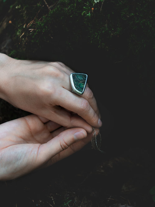 Кольцо GREEN VIBES ~1~