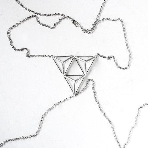 """Слейв - ожерелье """"Трио тригональных пирамид"""""""