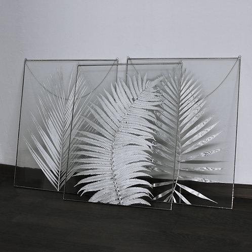 Большой декор с серебристыми гербариями