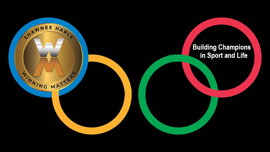 Shawnee Harle and Winning Matters with Olympic rings