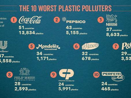 Pepsi, Coca Cola ve Nestle üst üste 3. Kez En Büyük Plastik Kirletici Ödülü Aldılar