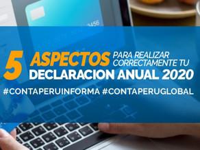 5 ASPECTOS PARA REALIZAR CORRECTAMENTE TU DECLARACIÓN JURADA ANUAL DE RENTA