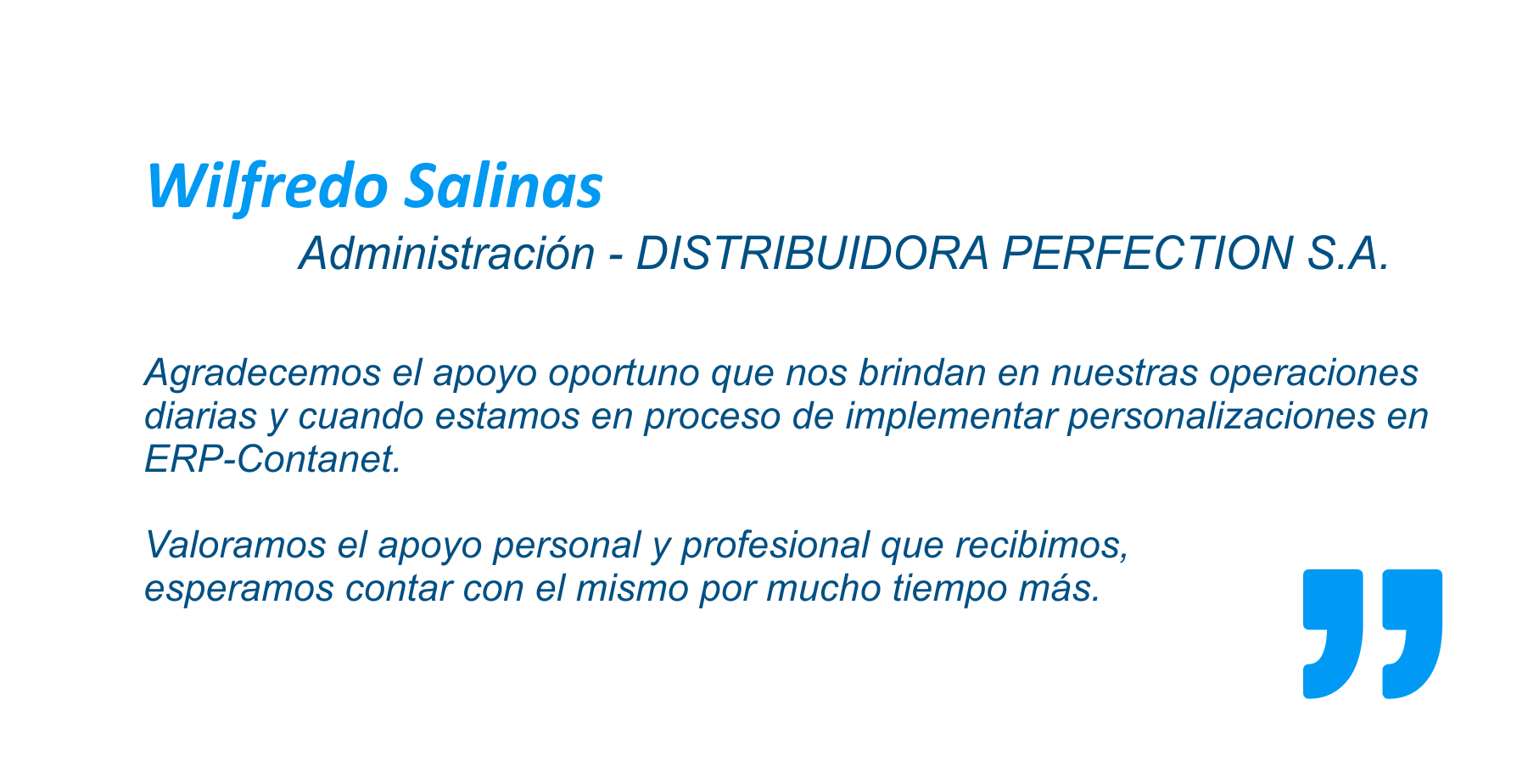 Distribuidora Perfection - Usuario de ERP Contanet
