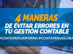 4 MANERAS DE EVITAR ERRORES EN TU GESTIÓN CONTABLE