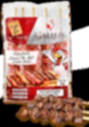Espetinho Carne do Sol Gallu's | Carne Salgada Congelada de Bovino sem Osso (Coxão Mole) - Revenda Salvador