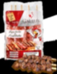 Espetinho de Fraldinha Gallu's | Carne Temperada Congelada de Bovino sem Osso - Revenda Salvador