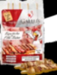 Espetinho Filé Suíno Gallu's | Carne Temperada Congelada de Suíno sem Osso - Revenda Salvador