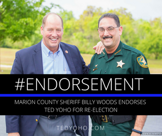 Marion County Sheriff Billy Woods Endorses Yoho for Re-election