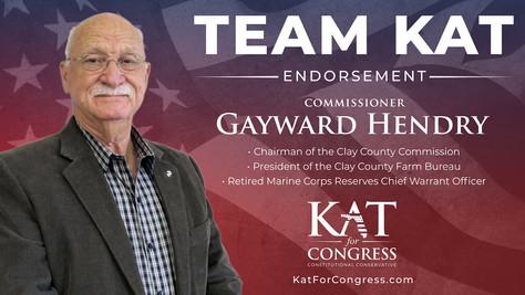 Commissioner Gayward Hendry