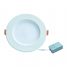 """This downlight panel utilizes an aluminum frame, and has a 0.51"""" ultra-thin side-emitting design and high transmittance light guide plate. It provides uniform light distribution with color temperature consistency. The fixture is IC rated and no recessed can is required saving time and installation cost. Suitable as a retrofit or new install."""