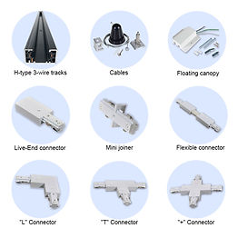 This tracking system is 3-wire and single circuit. It is intended for use with USL-TRS4A spot light for track lighting.
