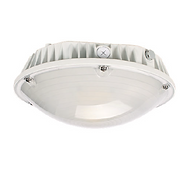 This garage fixture incorporates a microwave motion sensor for optimal energy management. Its lightweight, robust design allows for ease of installation and long life. Built with aluminum and polycarbonate, this fixture can be surface-mounted, pole-mounted, or NPT.