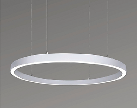 This pendant is available in sizes ranging from 2-foot diameter to 16-foot diameter. The profile is 1.3inch x 1.5 inch. Suspension is the standard mounting method, but it is also available as surface mounted. Options available for down light or up/down.