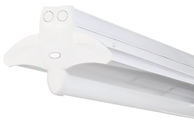 This fixture is compatible with track lighting; can be surface mounted; or can be pendant mounted via chain, cord, or rod. It can work on normal mains and automatically switch to emergency supply in the event of a power failure. This is done by self-contained batteries or by using two independent emergency lighting circuits in the trunking.