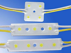 This thin mini-modules are waterproof and are available with 0-10V dimming. They are suitable for illuminating channel letters. With a lower luminous output, these modules are better suited to signage located closer to the viewer, where other modules are overkill.