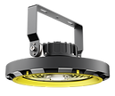 This highbay features a dial to switch the beam angle between 60 90 and 110 degrees. There is an option to mount the fixture upside down to create indirect uplight (not compatible with motion sensor).