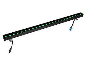 This linear wall washer features 3-in-1 RGB and 4-in-1 RGBW. It works with DMX512. Up to 150W can be daisy chained together. Multiple narrow, medium, and wide beam angles are available.